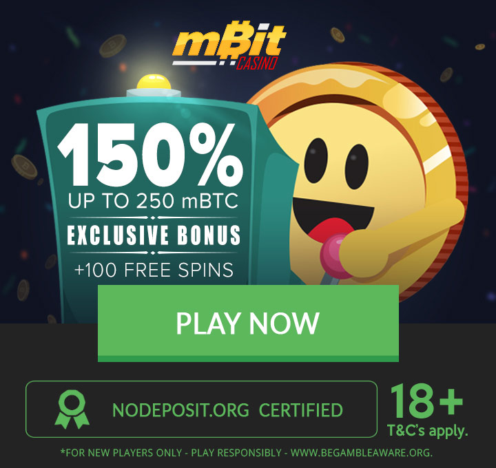 mBit exclusive signup bonus