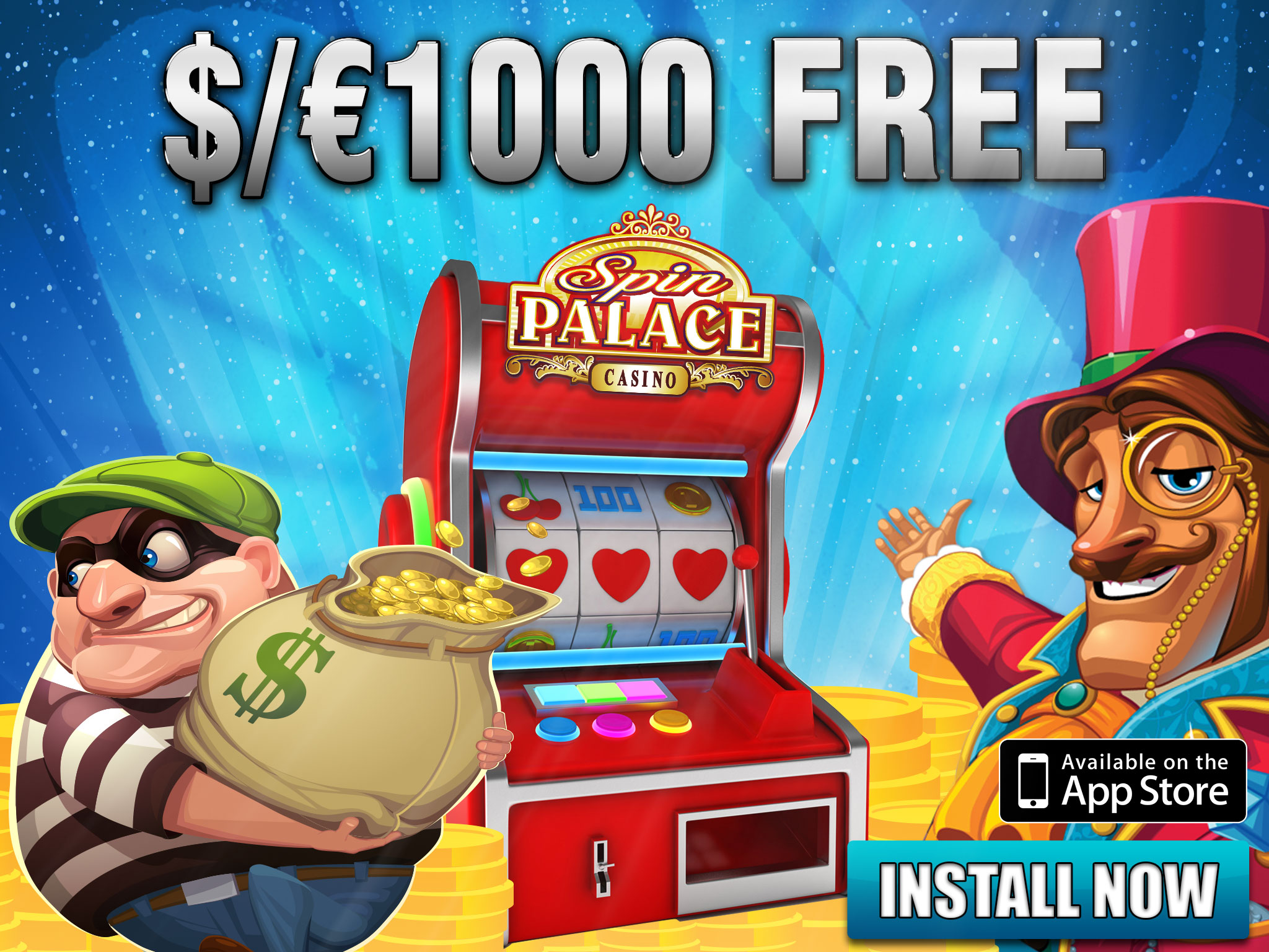 $/€1000 free from Spin Palace by Microgaming
